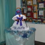 Goddess Yemanja's altar with Slavery Quilt c. 2009